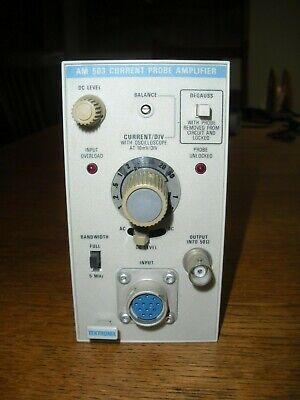 Textronix Am503 Current Probe Amplifier Am 503 Plug-in Module