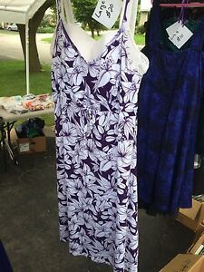Ladies size Large purple floral dress
