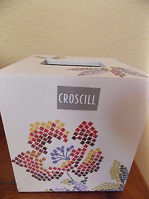 Mosaic Tissue - NEW CROSCILL MOSAIC LEAVES TISSUE BOX COVER HOLDER
