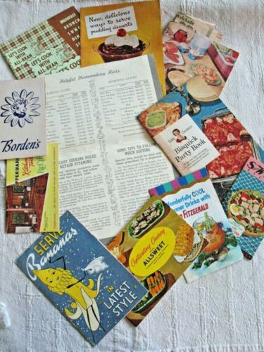 Lot of 1940s /50s Cook Dessert Breakfast Fun Recipes Books Booklets