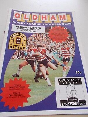 28.9.88 Oldham v Salford programme