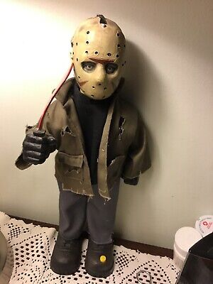 ANIMATED 14 inch JASON * FRIDAY THE 13th * HALLOWEEN DISPLAY PROP