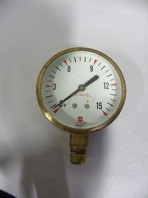 Vtg Industrial Machine Age Steampunk Usg Us Gauge Brass Pressure Gage A5