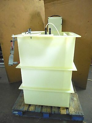 No Name 185 Gallon Open Top Plastic Poly Chemical Process Mixing Mixer Tank