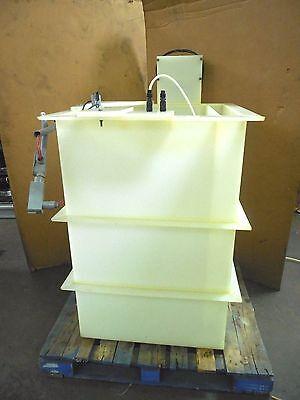 No Name 185 Gallon Open Top Plastic Poly Chemical Process Mixing Mixer Tank