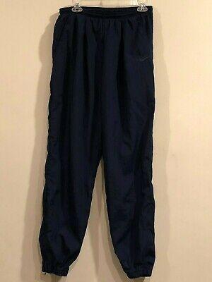 Vintage Men's Nike 100% Nylon Blue  Sport Track Pants - Size L