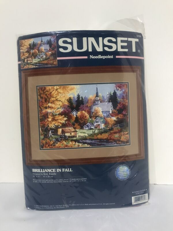 Sunset Needlepoint Kit Brilliance in Fall Designed By Kirk Randle 16 x 11 12151