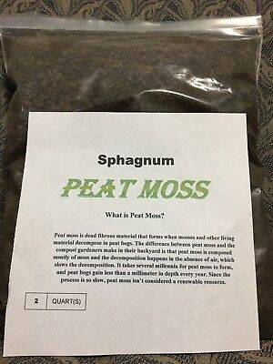 Peat Moss  Sphagnum Professional Grower formula 2 quart