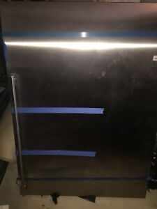 "Sub Zero 36"" stainless steel fridge panels"