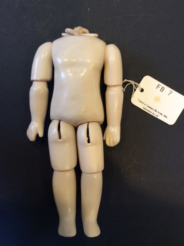 """7""""  Seeley Reproduction French Composition Child Doll Body"""