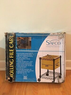 Safco Products Compact (Safco Products 5277BL Compact Mobile File Cart )
