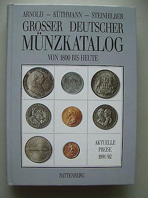 Grosser deutscher Münzkatalog von 1800 bis heute von 1991 mit Preisangaben