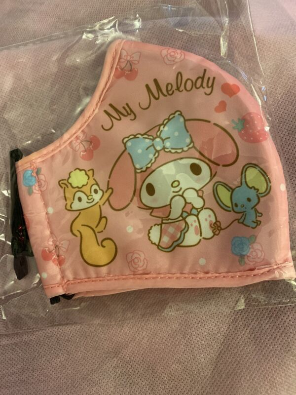 My Melody Sanrio Face Mask Adult Size Washable