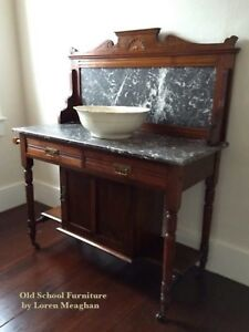 100+ year old marble washstand