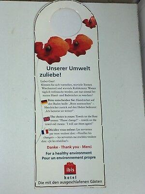 Vintage Ibis Hotel Healthy Environment Door Knob Sign Hanger 24155 Germany comprar usado  Enviando para Brazil