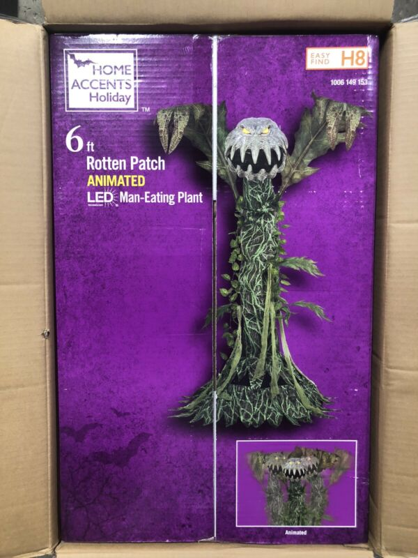 ⭐️ NEW Home Depot Exclusive 6ft Man Eating Plant Animatronic New for Halloween!
