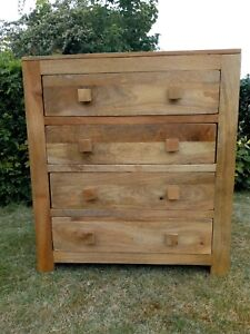 Oak Furniture Land Solid Mango Wood Chest of Drawers in good condition