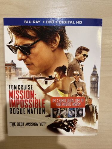 Mission Impossible - Rogue Nation Blu-ray/DVD, 2015, 2-Disc Set - $7.00