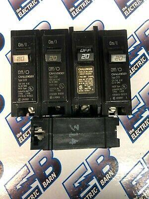 Challenger C120 Lot Of 5 20 Amp 1 Pole 120 Volt Circuit Breaker - Warranty