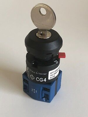New Kraus Naimer Cg4 Motor 2-position Key Load Switch Heavy Duty 10a