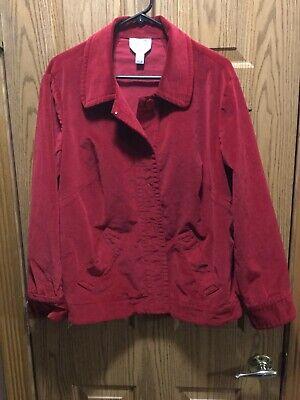 talbots 16w jacket/blazer red