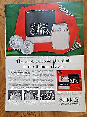1955 New Schick 25 Shaver Ad  The 16 Hour Shaver