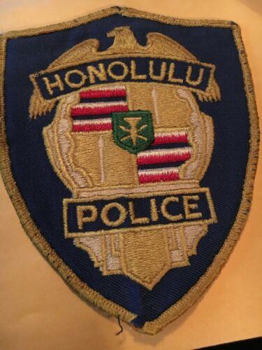 HONOLULU HAWAII POLICE PATCH OLDER