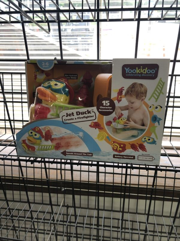 New Yookidoo Jet Duck Create a Firefighter  Battery Operated Bath Time Toy