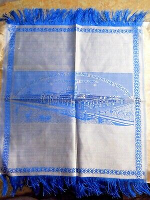 BEAUTIFUL 12X13 INCH SILK WOVEN ON SITE AT THE WORLD'S COLUMBIAN EXPOSITION