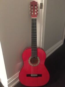 Red stagg classical acoustic guitar