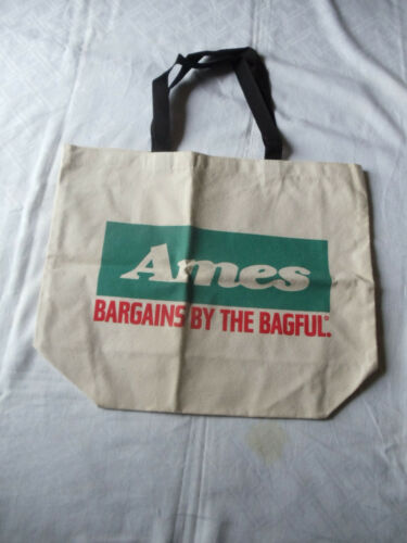AMES DEPARTMENT STORE CANVAS SHOPPING BAG - VINTAGE -NEW