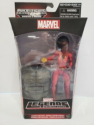 Marvel Legends Misty Knight Action Figure Rhino BAF Hasbro