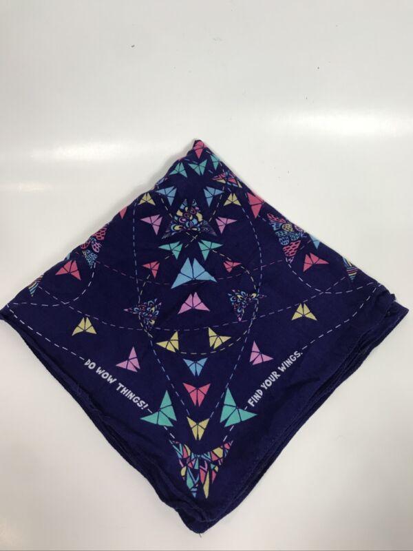 Little Brownies Purple Origami Butterfly Print Bandana