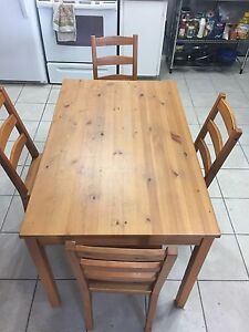 Table and 4 chairs $50 obo