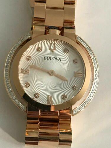 BULOVA Rubaiyat Diamond Silver Dial Ladies Watch Item No. 98R248