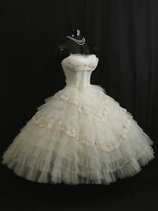 Vintage Tulle Prom Dress Ebay