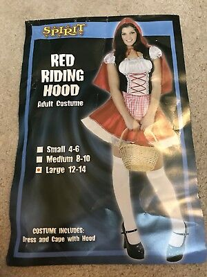 Halloween Spirit Store Costumes (Spirit Store Red Riding Hood Dress Costume Dress Only sz Large)