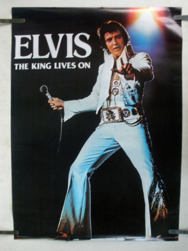 RARE ELVIS PRESLEY 1977 VINTAGE ORIGINAL MUSIC POSTER
