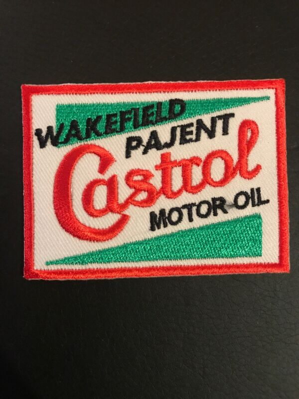 "Castrol Wakefield Motor Oil Modern Heat Sealed Embroidered 3.25"" x2.25"" Patch"