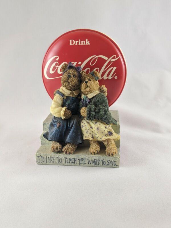 Coca cola collectable BOYDS bears BEARSTONE COLLECTION