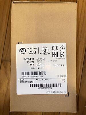 New Sealed Allen Bradley 25b-b2p5n104 A Powerflex 525 Ac Drive 0.4kw 0.5hp