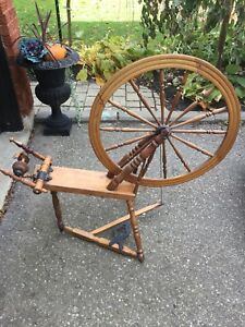 Antique spinning wheel
