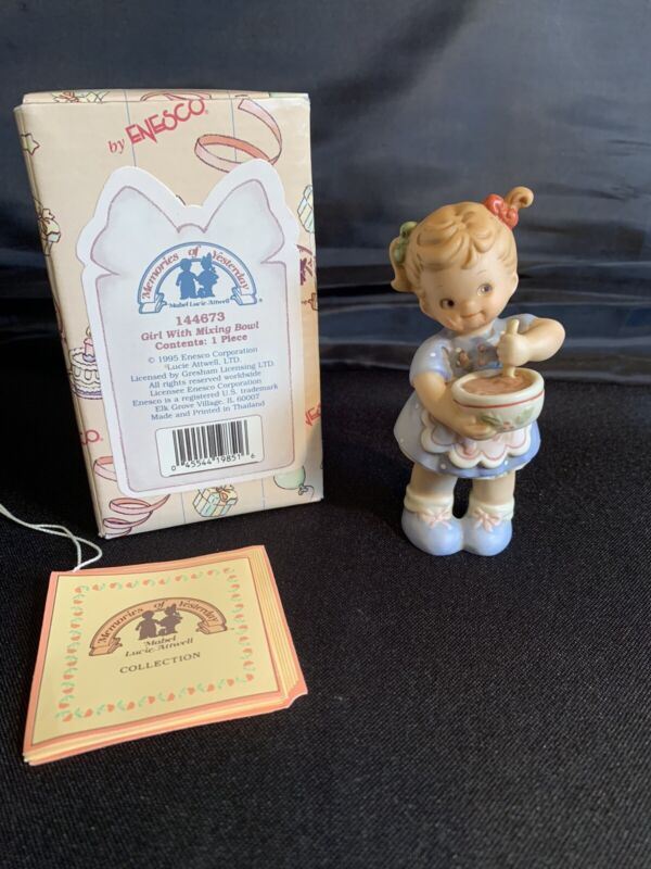 Memories of Yesterday 1995 Figurine - Girl With Mixing Bowl