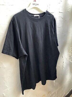 🌺New🏷Vintage St Michael M& S UK 20(50) Non Iron Cotton Black T Shirt👚Top