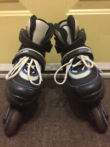 Youth sized roller blades