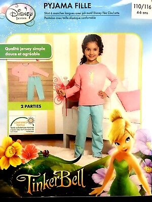 Tinkerbell Mädchen Pyjamas (Disney Tinkerbell Pyjama Mädchen Schlafanzug Gr.110/116  Nachtwäsche)