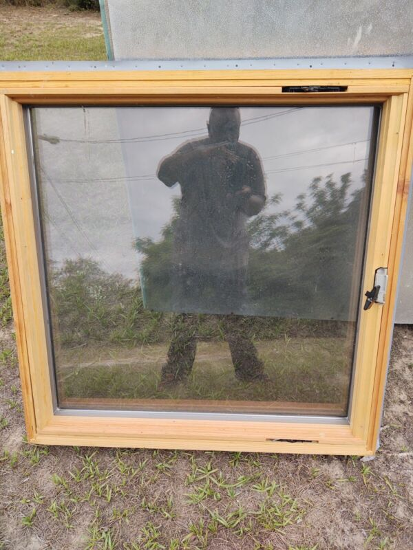 """All 3 new identical Andersen picture windows  36"""" x 36"""" never install self locks"""