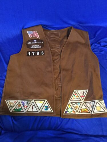 Girl Scouts Brownie Vest with Patches A4