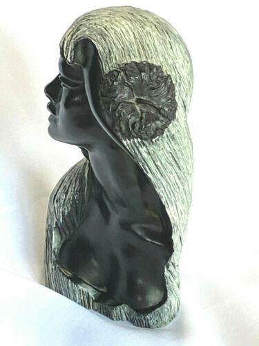 "Vtg Frank Schirman Black Coral Hula Goddess ""LAKA"", Hawaiian Figurine"