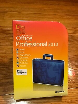 Full Version Retail Cd - Microsoft Office 2010 Professional For 3 PCs Full Retail NEW SEALED Box Version